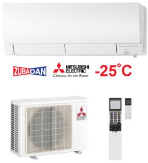 Хиперинверторен климатик Mitsubishi Electric MSZ-FH25VE/MUZ-FH25VEHZ ZUBADAN, 9000 BTU, А+++