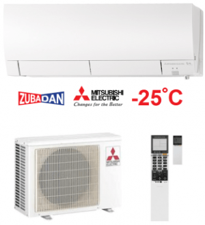 Хиперинверторен климатик Mitsubishi Electric MSZ-FH35VE/MUZ-FH35VEHZ ZUBADAN, 12000 BTU, А+++
